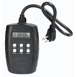 Westek TM15DOLB 2-Outlet Digital Outdoor Timer with Grounded Outlets (Black)