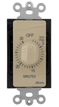 Westek TMSW30MI Hardwire Indoor 30-Minute Mechanical Countdown Timer - Ivory