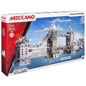 Meccano Tower Bridge Model Building Set, 742 Pieces