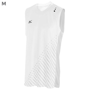 Mizuno DryLite Men's National VI Sleeveless Jersey, White - M