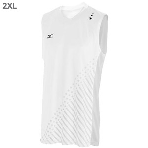 Mizuno DryLite Men's National VI Sleeveless Jersey, White - 2XL