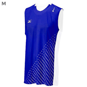 Mizuno DryLite Men's National VI Sleeveless Jersey, Royal & White - M