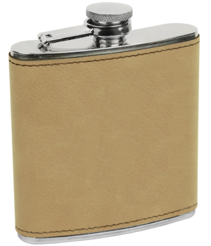 Erie 216 6oz. Leatherette Wrapped Stainless Steel Flask (FSK615)