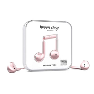Happy Plugs Earbud Plus Headphones - Pink (Refurbished)