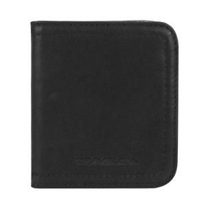Travelon Women's Hack-Proof RFID Leather Bifold Wallet/Card Case, Black