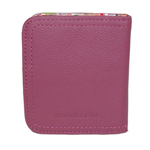 Travelon Women's Hack-Proof RFID Leather Bifold Wallet/Card Case, Berry