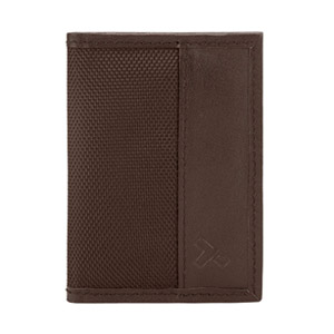 Travelon Hack-Proof RFID Bifold Slim Wallet, Brown