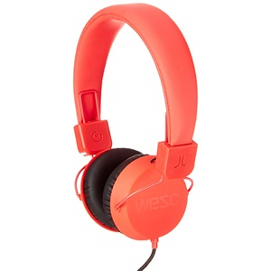 WESC Piston Street On-Ear Wired Foldable Headphones - Red
