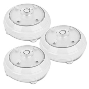 Wireless Pivot and Swivel LED Puck Lights with Remote Control 3 Pack
