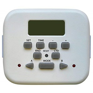 Westek TE23WHB Indoor Digital Timer with Separately Controllable Outlets