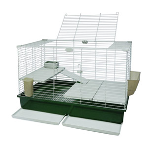 Marchioro Tommy 102 C1 Deluxe Small Animal Cage - Green/Beige