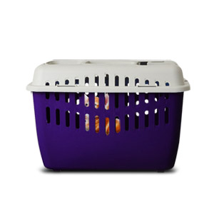 Marchioro Binny Basic Top Pet Carrier - Purple/White