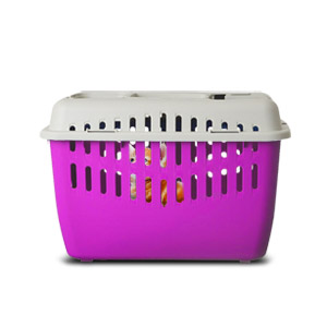 Marchioro Binny Basic Top Pet Carrier - Pink/White
