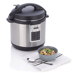 Fagor Premium 6-Quart Electric Pressure Rice Multi Cooker - Silver