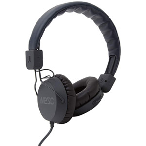 WESC Piston Street On-Ear Wired Foldable Headphones - Black