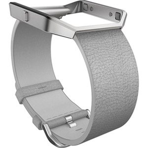 Fitbit Blaze Accessory Band, Leather, Mist Grey,  Large (Used,Refurbished)