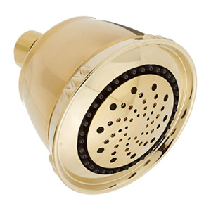Delta Faucets Universal Fixed 5-Setting Traditional Shower Head - Polished Brass