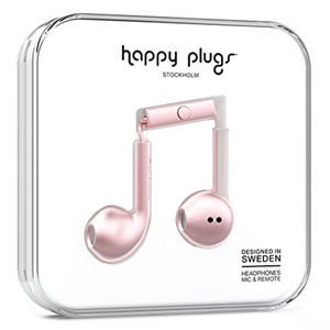 Happy Plugs Earbud Plus Deluxe Edition - Pink Gold