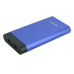InstaCHARGE 16000mAh Dual USB Power Bank Portable Battery Charger Purple