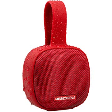 Soundstream h2GO IPX7 Waterproof Portable Bluetooth Speaker, Red (Refurbished)