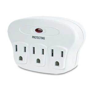 Philips 3 Outlet Surge Protector 1120 Joules & $150K Protection - SPP3030D/17