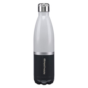 NATHAN Chroma Double-Walled Insulated Stainless Steel BPA Free Water Bottle 25oz Grey & Black