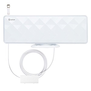 ANTOP AT-201B Flat-Panel Smartpass Amplified Indoor TV Antenna w/ 4G LTE Filter