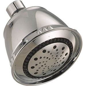 Delta Faucets Universal Fixed 5-Setting Traditional Shower Head 75566SN , Satin Nickel