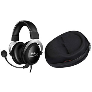 HyperX Cloud Pro Gaming Headset Silver with Official Cloud Carrying Case, Open Box