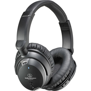 Audio-Technica QuietPoint Active Noise-Cancelling Wired Headphones ATH-ANC9, Black Refurbished