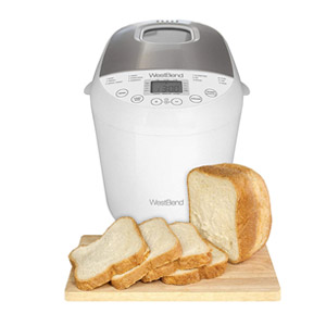 West Bend 2lb Programmable Hi-Rise Bread Maker with 12 Programs