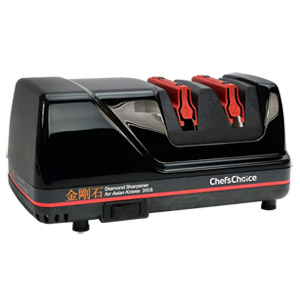 Chef'sChoice 315S Professional Diamond Electric Knife Sharpener for Asian-Style Kitchen Knives, 2-Stage, Black