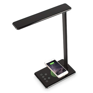 EpicXL Qi Wireless Charging Phone Charger LED Desk Lamp - Black