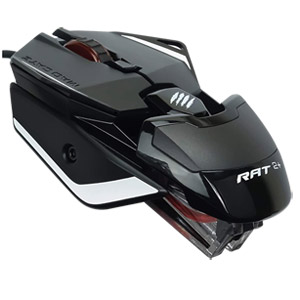 Mad Catz The Authentic R.A.T. 2+ Optical Gaming Mouse MR02MCAMBL00