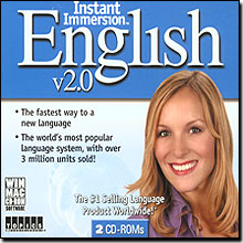 Instant Immersion English 2.0 (French/English) for Windows and Mac
